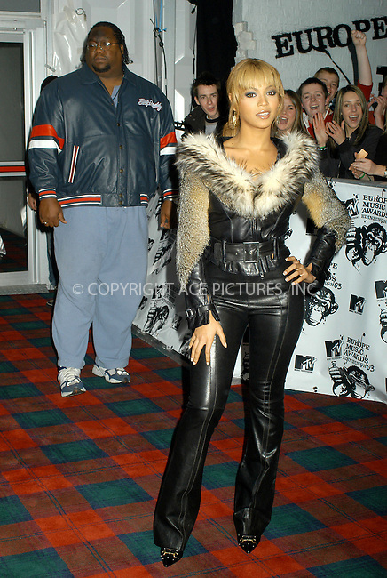 Beyonce Knowles at the MTV Europe Awards 2003, Western Harbour, Edinburgh - 06/11/03..FAMOUS PICTURES AND FEATURES AGENCY.tel  +44 (0) 20 7731 9333.fax +44 (0) 20 7731 9330.e-mail info@famous.uk.com.www.famous.uk.com.FAM12049