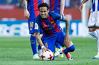 Neymar Santos Jr of FC Barcelona during the match of  Copa del Rey (King's Cup) Final between Deportivo Alaves and FC Barcelona at Vicente Calderon Stadium in Madrid, May 27, 2017. Spain.. (ALTERPHOTOS/Rodrigo Jimenez) /NortePhoto.com