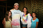 Adam Reist and daughter Jordan (3rd Righ), Bella Convertino (daughter of Liz Keifer) and friend (R) - Actors and fans have fun - Day 3 - August 2, 2010 - So Long Springfield at Sea - Carnival's Glory (Photos by Sue Coflin/Max Photos)