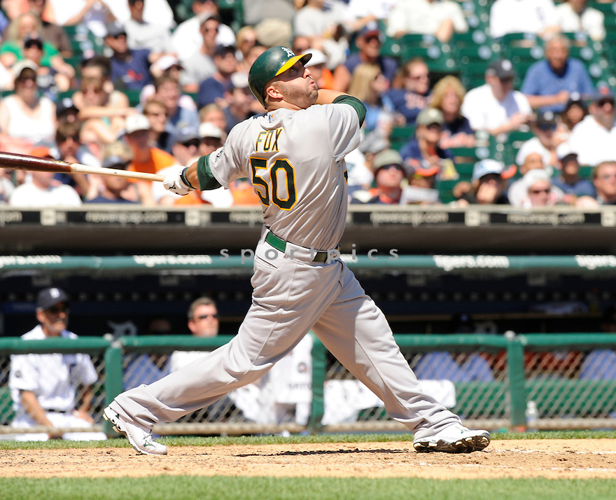 JAKE FOX,  of the Oakland A's  in action  during the A's game against the Detroit Tigers .  The Tigers beat the A's 10-2 in Detroit, Michigan on May 30, 2010...DAVID DUROCHIK / SPORTPICS