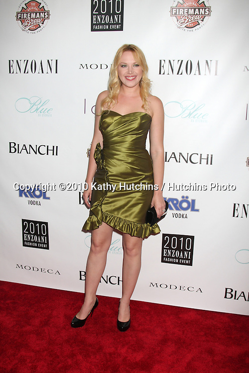 LOS ANGELES - JUL 17:  Adrienne Frantz arrives at the Fourth Annual Enzoani Fashion Event wearing Enzoani at J.W. Mariott Hotel - LA Live on July17, 2010 in Los Angeles, CA ....