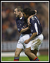 23/11/2002                   Copyright Pic : James Stewart.File Name : stewart-dundee v utd15.DAVID MACKAY CONGRATULATES CABALLERO AFTER HE SCORED THE SECOND......Payments to :-.James Stewart Photo Agency, 19 Carronlea Drive, Falkirk. FK2 8DN      Vat Reg No. 607 6932 25.Office     : +44 (0)1324 570906     .Mobile  : +44 (0)7721 416997.Fax         :  +44 (0)1324 570906.E-mail  :  jim@jspa.co.uk.If you require further information then contact Jim Stewart on any of the numbers above.........