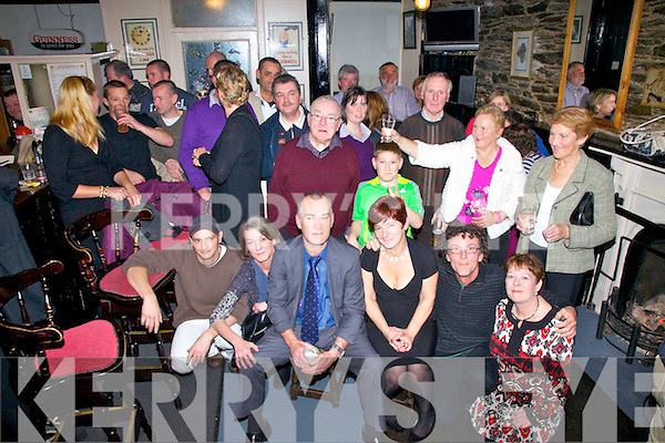 Gerard & Terry Evans seated front centre from Cahersiveen celebrated their 25 wedding anniversary with family and friends in the Anchor Bar Cahersiveen on Friday night last.