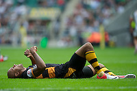 Tom Varndell of London Wasps looks dejected after losing 42-40 during the Aviva Premiership match between London Wasps and Harlequins at Twickenham on Saturday 1st September 2012 (Photo by Rob Munro).