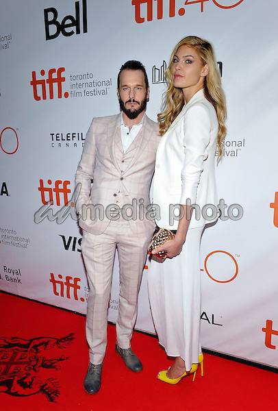 "19 September 2015 - Toronto, Ontario, Canada - Michael Eklund, Megan Bennett. ""Mr. Right"" Premiere and Closing Night Gala at the 2015 Toronto International Film Festival held at Roy Thomson Hall. Photo Credit: Brent Perniac/AdMedia"