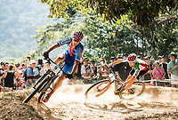 Picture by Alex Broadway/SWpix.com - 09/09/17 - Cycling - UCI 2017 Mountain Bike World Championships - XCO - Cairns, Australia - Jaroslav Kulhavy of Czech Republic and Nino Schurter of Switzerland in action during the Men's Elite Cross Country Final.