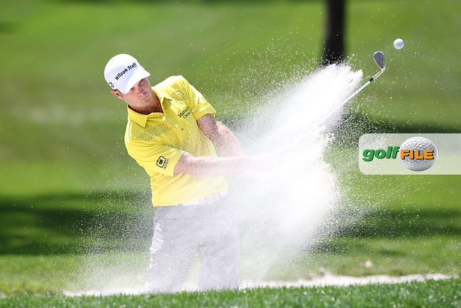 Kevin Steelman of USA chips out of the bunker on the 1st green during the 3rd round of the Valspar Championship, Innisbrook Resort (Copperhead), Palm Harbor, Florida, USA<br /> Picture: Peter Mulhy / Golffile