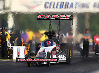 May 13, 2016; Commerce, GA, USA; NHRA top fuel driver Steve Torrence during qualifying for the Southern Nationals at Atlanta Dragway. Mandatory Credit: Mark J. Rebilas-USA TODAY Sports
