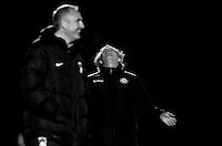 Wycombe Wanderers Manager Gareth Ainsworth (right) shows his disappointment during the The Checkatrade Trophy Southern Group D match between Wycombe Wanderers and Coventry City at Adams Park, High Wycombe, England on 9 November 2016. Photo by Andy Rowland.