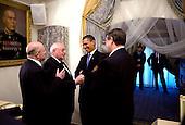 Gostinny Dvor, Russia - July 7, 2009 -- United States President Barack Obama meets with President Mikhail Gorbachev, former leader of the Soviet Union, in Gostinny Dvor, Russia, Tuesday, July 7, 2009..Mandatory Credit: Pete Souza - White House via CNP