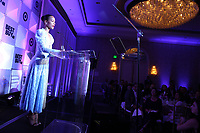 LOS ANGELES, CA - NOVEMBER 8: Zoe Saldana at the Eva Longoria Foundation Dinner Gala honoring Zoe Saldaña and Gina Rodriguez at The Four Seasons Beverly Hills in Los Angeles, California on November 8, 2018. Credit: Faye Sadou/MediaPunch