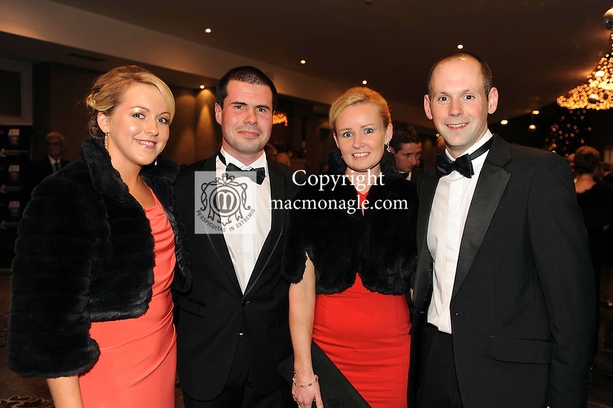 Courtney Dwyer and Sean Joy, Kerry, Clodagh Fitzgerald and James Bermingham, Rathcormac, Co. Cork, at the Bord Gais Energy Munster GAA Awards in The Malton Hotel, Killarney at the weekend.<br /> Picture by Don MacMonagle<br /> PR photo from Munster Council<br /> Further info: ed Donnelly e;pro.munster@gaa.ie