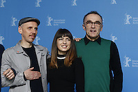 www.acepixs.com<br /> <br /> February 10 2017, Berlin<br /> <br /> (L-R) Ewen Bremner, Anjela Nedyalkova and Danny Boyle at the 'T2 Trainspotting' photo call during the 67th Berlinale International Film Festival Berlin at Grand Hyatt Hotel on February 10, 2017 in Berlin, Germany.<br /> <br /> By Line: Famous/ACE Pictures<br /> <br /> <br /> ACE Pictures Inc<br /> Tel: 6467670430<br /> Email: info@acepixs.com<br /> www.acepixs.com