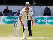 June 12th 2017, Trafalgar Road Ground, Southport, England; Specsavers County Championship Division One Day Four; Lancashire versus Middlesex; Toby Roland-Jones bowls during the second Lancashire innings; Middlesex were all out this morning and set Lancashire a target of 108 to win the match