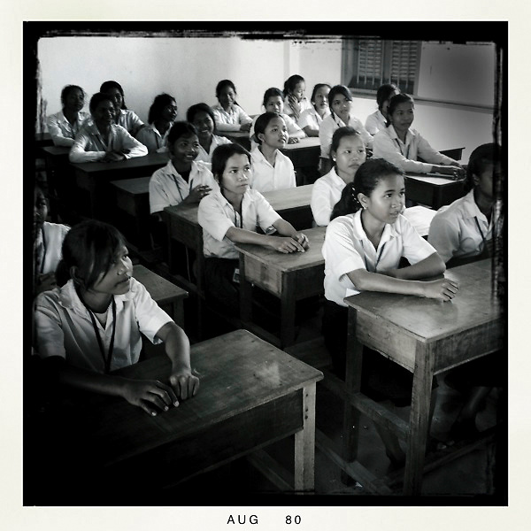 Girls from Room to Read program, a 10x10 partner, in Siem Reap, Cambodia.