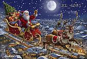 Interlitho, CHRISTMAS SANTA, SNOWMAN, WEIHNACHTSMÄNNER, SCHNEEMÄNNER, PAPÁ NOEL, MUÑECOS DE NIEVE, paintings+++++,santa, sleigh,KL6081,#X# ,Marcello