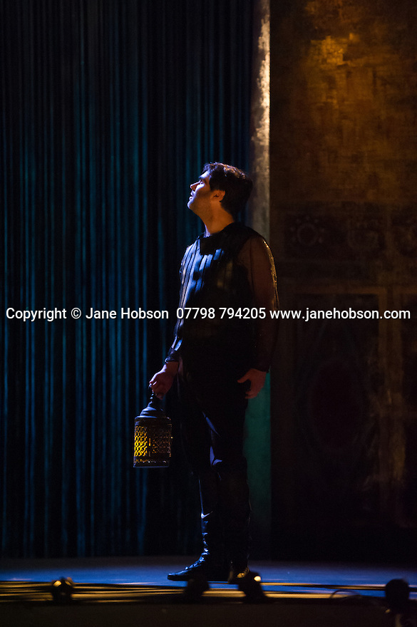 London, UK. 15.10.2014. English Touring Opera presents OTTONE, by George Frideric Handel, directed by James Conway, at the Hackney Empire. Picture shows:  Clint van der Linde (Ottone). Photograph © Jane Hobson.