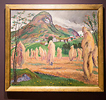 'Grain Poles' undated oil painting on canvas by Nikolai Astrup 1880-1928, Kode 4 art gallery Bergen, Norway