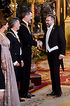 Queen Letizia, Juliana Awada, President of Argentine Republic, Mauricio Macri, King Felipe VI of Spain and politician Juan Carlos Girauta  during the gala dinner given to the President of the Argentine Republic, Sr. Mauricio Macri and Sra Juliana Awada at Real Palace in Madrid, Spain. February 19, 2017. (ALTERPHOTOS/BorjaB.Hojas)
