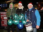 Fergal Pentony, Sarah Simpson and Tony Sweeney at the Fireworks display sponsored by Funtasia at Scotch Hall Shopping Centre as part of the Drogheda Christmas BonanzaFestival. Photo:Colin Bell/pressphotos.ie