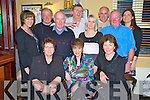 Pictured at the Fossa GAA Christmas party in the Old Killarney Inn on Friday night were Eileen Weldon, Helen Daly, Teresa Kissane,Julie Talbot, Seamus Weldon, Mick Myers, James O'Shea, Susan O'Keeffe, Tim Kissane, Dave Geaney and Moira Dineen.