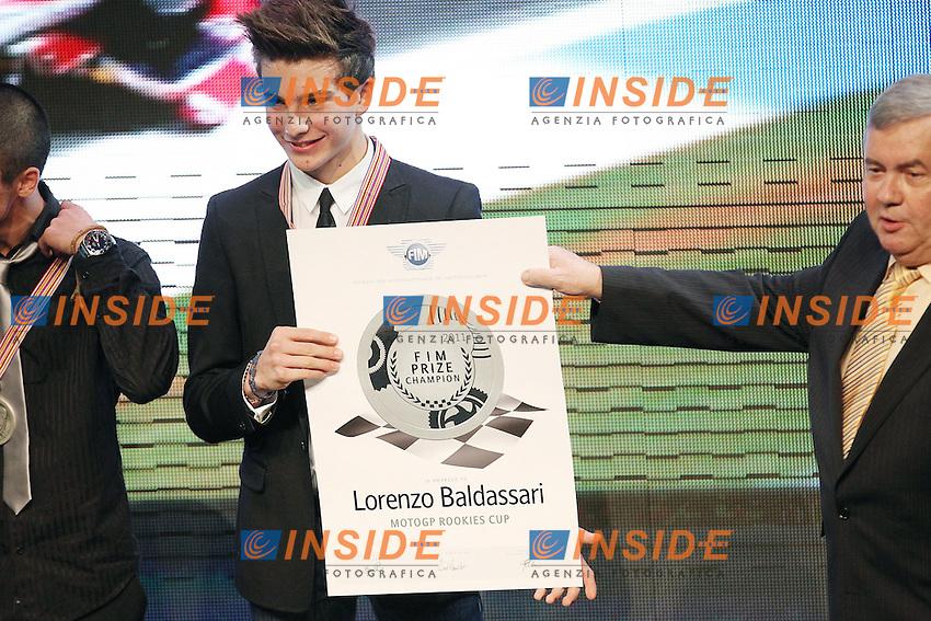 06-11-2011 Valencia (ESP).Motogp - Motogp awards 2011.Lorenzo Baldassari - World Champion Red Bull Rookies Cup.Foto Insidefoto / Semedia