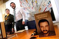 Irene Pivetti e Matteo Salvini<br /> Roma 04-05-2016 Stampa Estera. Presentazione del libro 'Secondo Matteo'.<br /> Foreign Press. Presentation of the book 'Secondo Matteo'<br /> Photo Samantha Zucchi Insidefoto