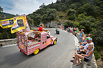 The Publicity caravan during Stage 19 of the 104th edition of the Tour de France 2017, running 222.5km from Embrun to Salon-de-Provence, France. 21st July 2017.<br /> Picture: ASO/Bruno Bade | Cyclefile<br /> <br /> <br /> All photos usage must carry mandatory copyright credit (&copy; Cyclefile | ASO/Bruno Bade)