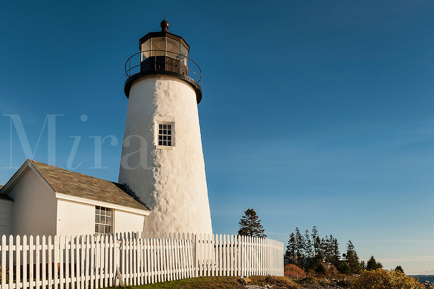 Pemaquid Point Light Station, Muscongus Bay, Bristol, Maine, USA.