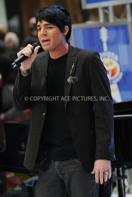 WWW.ACEPIXS.COM . . . . . ....May 28 2009, New York City....American Idol runner-up Adam Lambert performed live on NBC's 'Today' show at the Rockefeller Plaza on May 28 2009 in New York City.....Please byline: KRISTIN CALLAHAN - ACEPIXS.COM.. . . . . . ..Ace Pictures, Inc:  ..tel: (212) 243 8787 or (646) 769 0430..e-mail: info@acepixs.com..web: http://www.acepixs.com