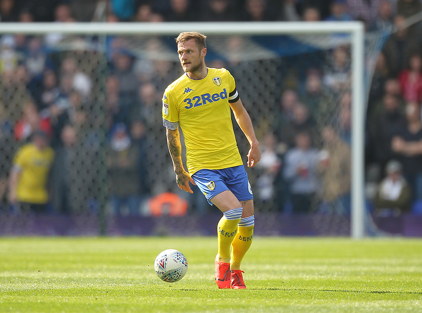 Leeds United's Liam Cooper<br /> <br /> Photographer Mick Walker/CameraSport<br /> <br /> The EFL Sky Bet Championship - Birmingham City v Leeds United - Saturday 6th April 2019 - St Andrew's - Birmingham<br /> <br /> World Copyright © 2019 CameraSport. All rights reserved. 43 Linden Ave. Countesthorpe. Leicester. England. LE8 5PG - Tel: +44 (0) 116 277 4147 - admin@camerasport.com - www.camerasport.com