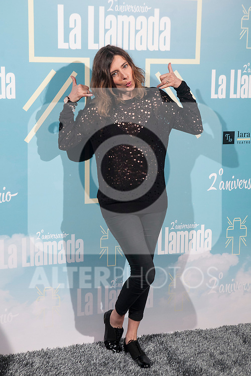 Sandra Barneda attends La Llamada theater play in Madrid, Spain. April 15, 2015. (ALTERPHOTOS/Victor Blanco)