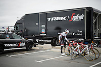 Edward Theuns (BEL/Trek-Segafredo) getting ready for a training ride