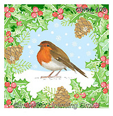 Kate, CHRISTMAS SYMBOLS, WEIHNACHTEN SYMBOLE, NAVIDAD SÍMBOLOS, paintings+++++Robin and holly,GBKM408,#xx#,red robin