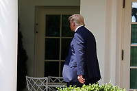 United States President Donald J. Trump walks back to the Oval Office after signing H.R. 7010 - PPP Flexibility Act of 2020 in the Rose Garden of the White House in Washington, DC on June 5, 2020. <br /> Credit: Yuri Gripas / Pool via CNP/AdMedia