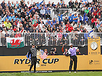 Ryder Cup 2010..Tiger Woods pulls his drive off the 1st tee during the afternoon foursomes..02.10.10.©Steve Pope