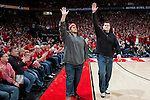 Wisconsin Badgers honor Super Bowl XLV Champions Mark Tauscher and Chad Clifton during a Big Ten Conference NCAA men's college basketball game against the Ohio State Buckeyes at the Kohl Center on February 12, 2011 in Madison, Wisconsin. Wisconsin won 71-67. (Photo by David Stluka)