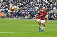 Pablo Zabaleta Of West Ham United clears a cross during West Ham United vs Burnley, Premier League Football at The London Stadium on 3rd November 2018