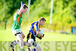 Mid Kerry's David Roche puts Kenmares Pat Spillane under pressure during the U16 County Semi Final held in Lewis Road, Killarney on Friday evening. ............................................................................................