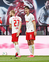 27th May 2020, Red Bull Arena, Leipzig, Germany; Bundesliga football, RB Leipzig versus Hertha Berlin;   Patrick Schick (21, RB Leipzig) celebrates as he scores for 2:1