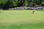 Padraig Harrington eyeing up his putt on the 3rd.during round three of the BMW PGA championship 2010 at Wentworth golf club, Surrey England..Picture Fran Caffrey/Newsfile.ie