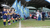 20130317 Copyright onEdition 2013©.Free for editorial use image, please credit: onEdition..Tom Guest of Harlequins runs onto the pitch before the LV= Cup Final between Harlequins and Sale Sharks at Sixways Stadium on Sunday 17th March 2013 (Photo by Rob Munro)..For press contacts contact: Sam Feasey at brandRapport on M: +44 (0)7717 757114 E: SFeasey@brand-rapport.com..If you require a higher resolution image or you have any other onEdition photographic enquiries, please contact onEdition on 0845 900 2 900 or email info@onEdition.com.This image is copyright onEdition 2013©..This image has been supplied by onEdition and must be credited onEdition. The author is asserting his full Moral rights in relation to the publication of this image. Rights for onward transmission of any image or file is not granted or implied. Changing or deleting Copyright information is illegal as specified in the Copyright, Design and Patents Act 1988. If you are in any way unsure of your right to publish this image please contact onEdition on 0845 900 2 900 or email info@onEdition.com