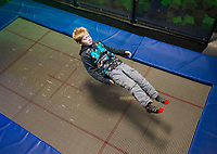 NWA Democrat-Gazette/BEN GOFF @NWABENGOFF<br /> Playing on a trampoline Thursday, Jan. 4, 2018, at High Rise Extreme Air Sports in Rogers.