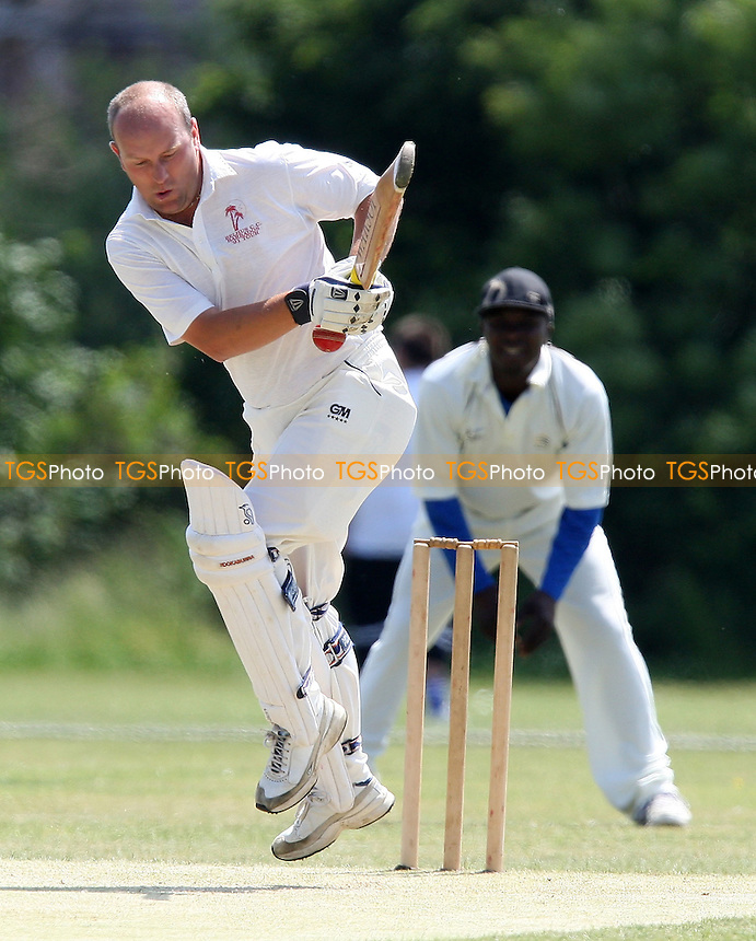 R Waters in batting action for Belhus - Belhus CC vs Hawks CC - Lords International Cricket League - 28/06/08 - MANDATORY CREDIT: Gavin Ellis/TGSPHOTO - Self billing applies where appropriate - Tel: 0845 094 6026.