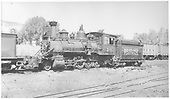 Fireman's-side 3/4 view of RGS 2-8-0 #40 at Ridgway.<br /> RGS  Ridgway, CO  1941