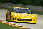 10 August 2007: The Corvette Racing C6.R driven by Oliver Gavin (XEN) and Olivier Beretta (MCO) at the Generac 500 at Road America, Elkhart Lake, WI