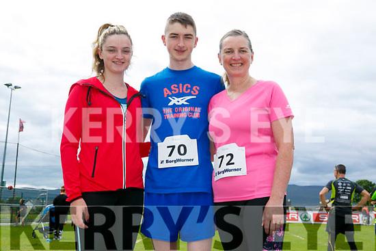 Enjoying the St Brendan's Park FC  5K run and family fun day at Christy Leahy Park on Sunday were Eimear Lynch, Dara Lynch and Ellen Lynch