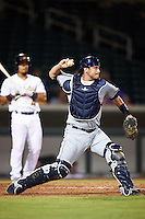 Peoria Javelinas Nick Ciuffo (13), of the Tampa Bay Rays organization, during a game against the Mesa Solar Sox on October 15, 2016 at Sloan Park in Mesa, Arizona.  Peoria defeated Mesa 12-2.  (Mike Janes/Four Seam Images)