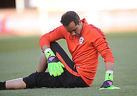Philadelphia, PA - Tuesday June 14, 2016: Claudio Bravo prior to a Copa America Centenario Group D match between Chile (CHI) and Panama (PAN) at Lincoln Financial Field.