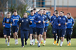 Rangers captain Lee Wallace leads the team around